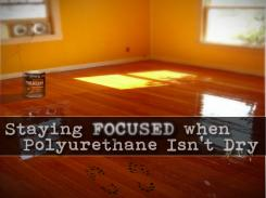 Staying Focused When Polyurethane Isn't Dry