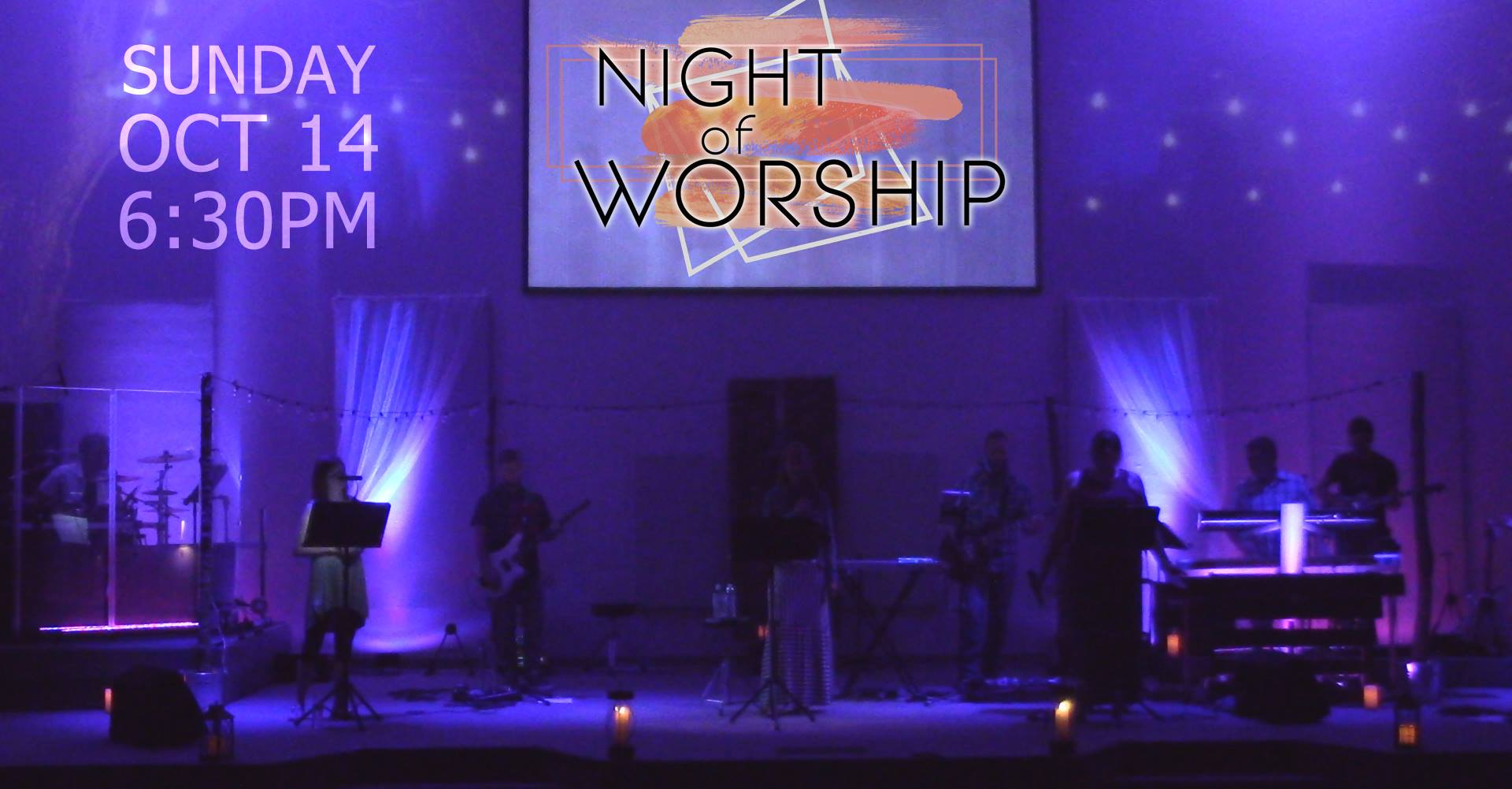 Night of Worship, October 14, 6:30 - 8:30 p.m.