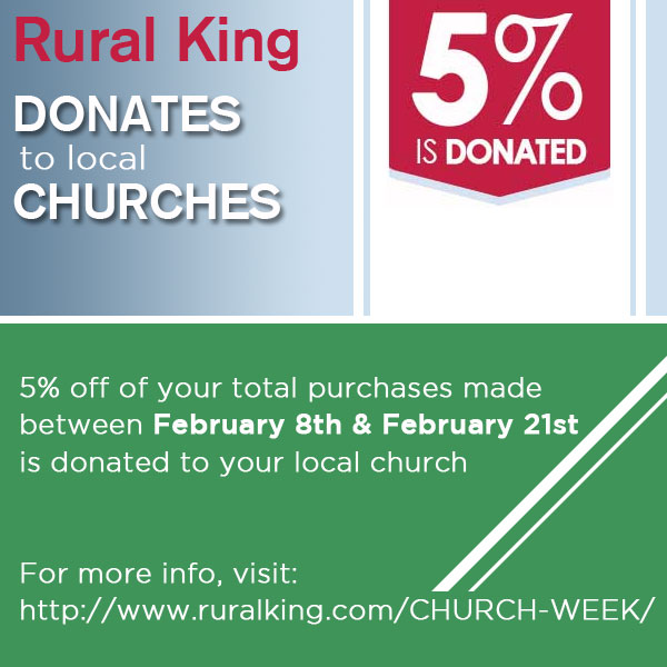 Rural King - Church Week