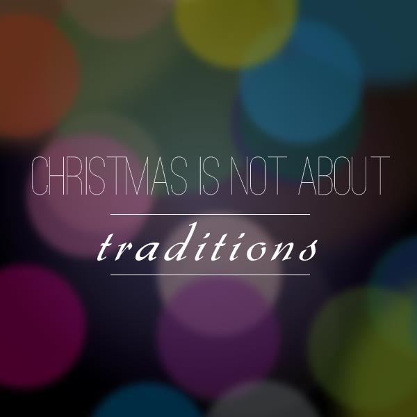 Christmas is NOT about...